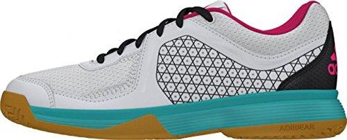 adidas Counterblast 3 K, Zapatillas de Balonmano Unisex niños, Blanco/Verde/Gris (Balcri/Verimp/Grpudg), 36