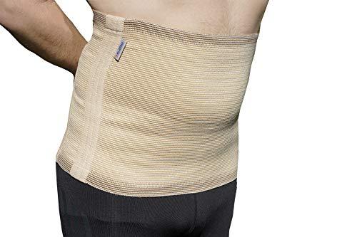 Elasma Nierenwärmer für Herren und Damen - Rückenwärmer - Nierengurt - Wärmegürtel (Beige, XXL/6)