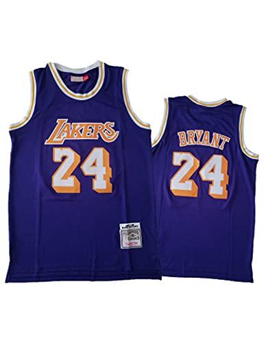 Kfdfns 2021 Hombres Jersey NBA Los Angeles Lakers # 24 Kobe Bryant Camiseta de Baloncesto Sudaderas Chaleco sin Mangas Transpirable Top Informal