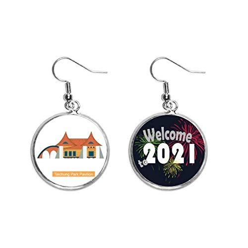 Taiwan Attractions Boucles d'oreilles Pendentifs Pavillon de Taichung Park 2021