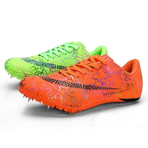 Uomo Scarpe di Atletica Leggera, Unisex Chiodate Scarpe Scarpe Traspiranti Junior Sprint Spikes...