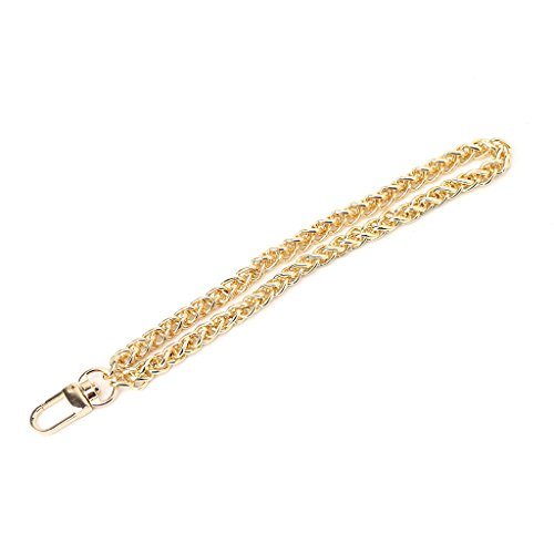 JENOR Sostituzione Cinturino da Polso Frizione Wristlet Purse Coin Bag Key Chain Accessories Gold