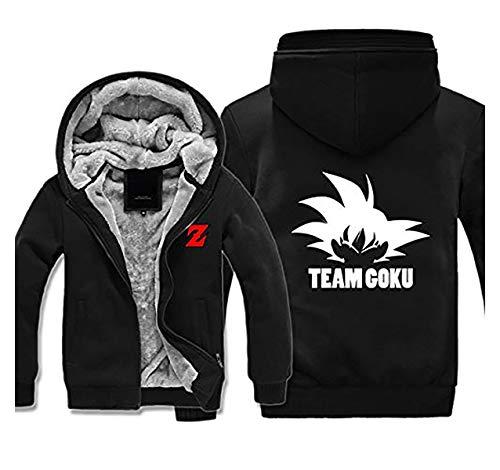Preisvergleich Produktbild Mempire Herren Kapuzenpullover Sweatjacke mit Reißverschluss Son Goku Kakarotto Team Goku Gemusterte Sweatshirts (C, L)