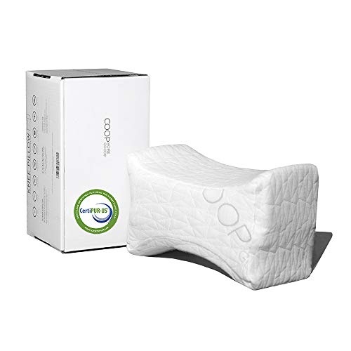 COOP HOME GOODS - Fully Adjustable Knee Pillow and Leg Positioner with Washable Cover - Memory Foam Fill - Helps Relieve Pain - Perfect for Side Sleepers and During Pregnancy - Soft Lulltra Fabric