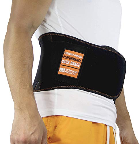 Cinturón Soporte Lumbar por Everyday Medical I Cinturon Lumbar Prevenir Daños para Hombres y Mujer I Faja Lumbar para la Espalda y Terapia de Postura I Ajuste Dual I Lumbar Support Brace I S/M