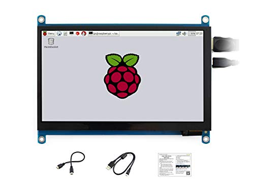Waveshare 7 inch Display for Raspberry Pi 4 Capacitive Touchscreen HDMI LCD (H) 1024x600 Resolution IPS Monitor Supports All Raspberry Pi/Jetson Nano/Windows 10/8.1/8/7 PC/Game Console