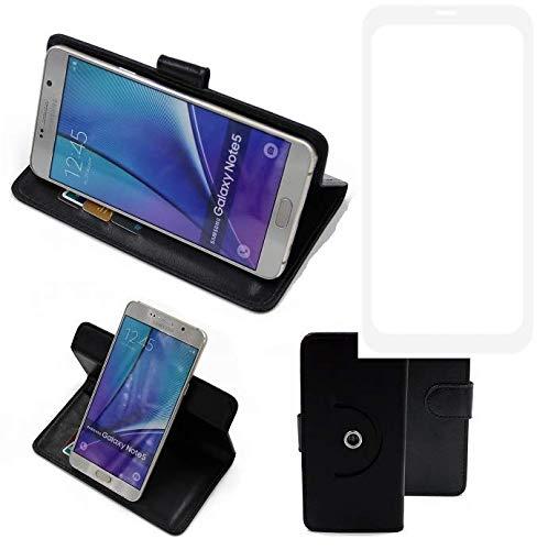 K-S-Trade® Case Schutz Hülle Für -Vestel V3 5580 Dual-SIM- Handyhülle Flipcase Smartphone Cover Handy Schutz Tasche Bookstyle Walletcase Schwarz (1x)