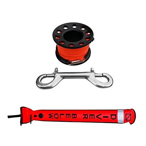 ARTFFEL Durable Plongée sous-Marine Surface Marker Buoy Signal Tube avec Reel plongée Spool Eau Natation Plongée Accessoires de Piscine Parfait (Color : Black)