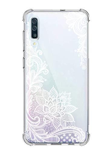 Suhctup Funda Compatible con Samsung Galaxy A60/M40 Carcasa Transparente,Dibujo Diseño Flor [Protección Caídas] Ultra-Delgado Flexible Silicona TPU Estuche Cover para Galaxy A60/M40,Mandala 3