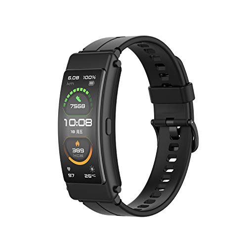 TopTen Correa de reloj compatible con HUAWEI Talkband B6, pulsera de silicona accesorios de repuesto pulsera ajustable (negro)