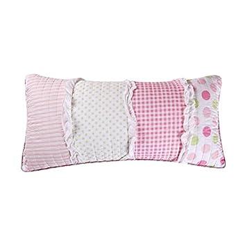 Levtex Marley Ruffled Pillow Pink Word