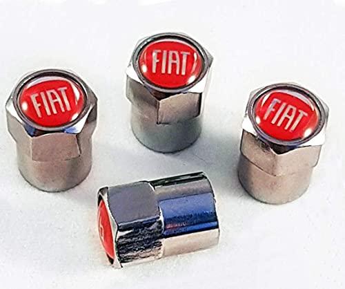 4 Piezas Neumáticos Tapas Válvulas para Fiat 500 500l 500x Doblo 124 Bravo Panda Evo Multipla, Antipolvo Tapones de Coche Decoración Accesorios
