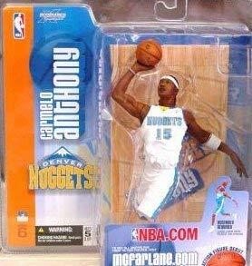 McFarlane NBA 6 Carmelo Anthony in Denver Nuggets Light Blue Nuggets Jersey Rookie Figure