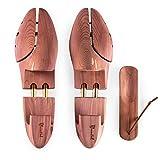 Blumtal Schuhspanner für Herren und Damen - Schuhdehner aus Zedern-Holz, mit Schuhlöffel, versch. Größen (43/44-1 Paar)
