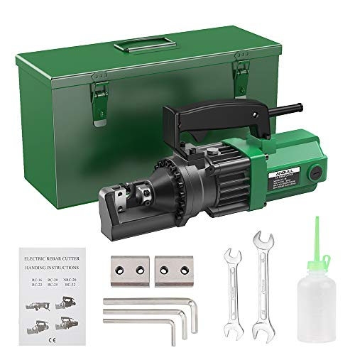 Anbull 900W Electric RebarCutter, Cutting up to 5/8 Inch 4-16mm #5 Rebar, with Replaceable Jaw Blades, Cutting Speed 2.5-3.0S (900W RC-16)