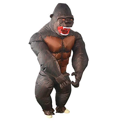LXLTLB Aufblasbares Sumo Kostüm Kind Erwachsene King Kong Aufblasbarer Anzug Karikatur gehen Kleidung Jährliches Treffen Komisch Krieger,120~150cm