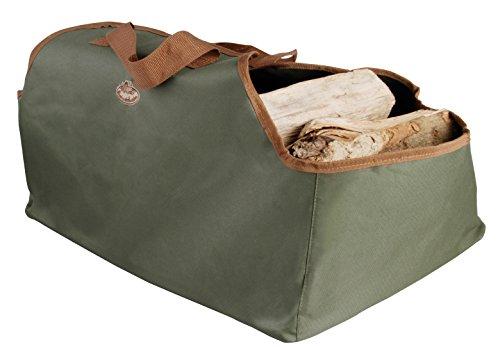 Esschert Design draagtas haardhout draagtas, groen, 59 x 39,5 x 38,5 cm
