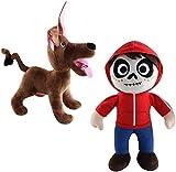 Coco Plush Toy-Miguel Rivera and Dante Dog Stuffed Toy with Travel Bag (Miguel Rivera and Dante)