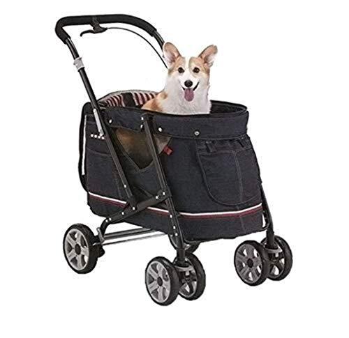GOOCO Tiere Wagen, Pet Jogger,Buggy Stroller, Hundebuggy Für Hunde Bis 30 Kg - Aus Wasserdichtem Material, Mit Klappfunktion Und Praktischer Einkaufstasche