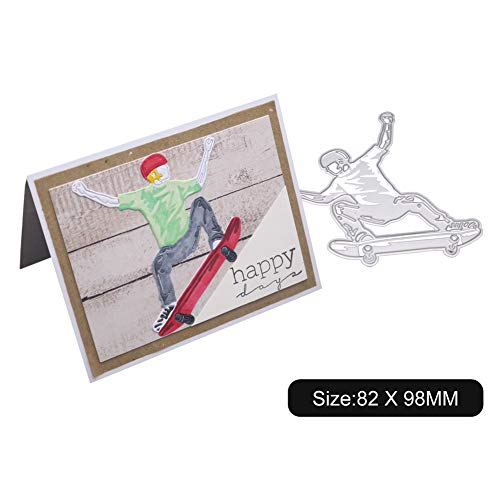 Absir Carbon Steel Cutting Dies Boy Skateboarding Extreme Sports Mold Make Card Tool for Scrapbook