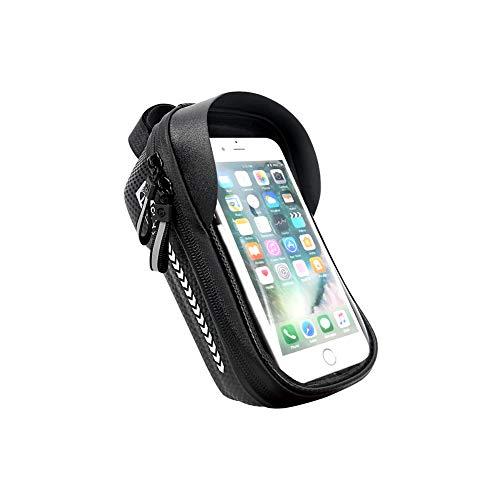 BAQIU Bicicleta, teléfono, Marco Frontal, Bolsa Impermeable, Accesorios para Bicicletas, Bolsa de Almacenamiento, Compatible con teléfonos con Pantalla táctil de Menos de 7.2 ''
