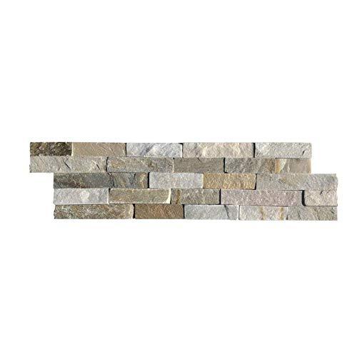 Parement mural en pierre naturelle mix beige - 9 pcs