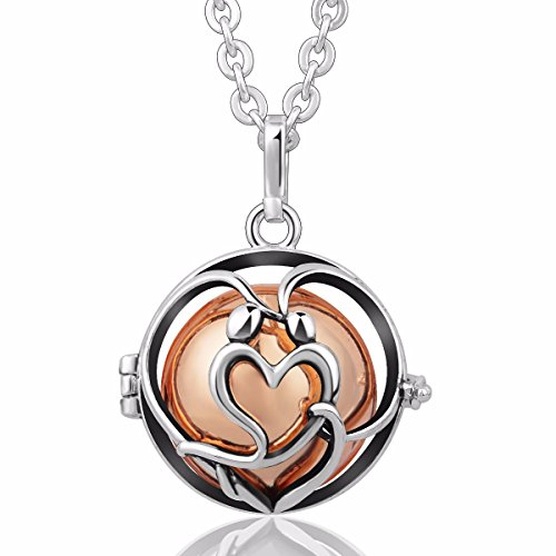 [In Love] Eudora Harmony Bola Angel Chime Caller 20mm Mexican Ball Music Pendant Prayer 30''necklace rose gold