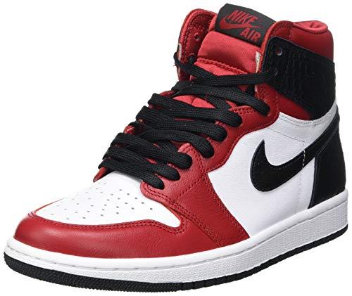 NIKE Air Jordan 1 Retro High, Zapatillas de básquetbol Mujer, Gym Red/Black/White, 37.5 EU