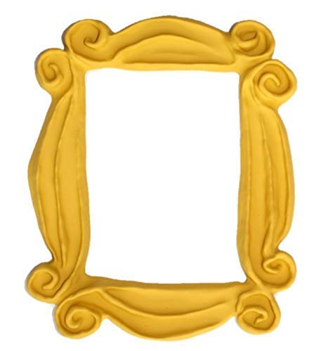 Handmade with Love by Fatima. As seen in Monica's Door. It has Two Side Tape in the back. Yellow Frame for your peephole. Present for your best friends.