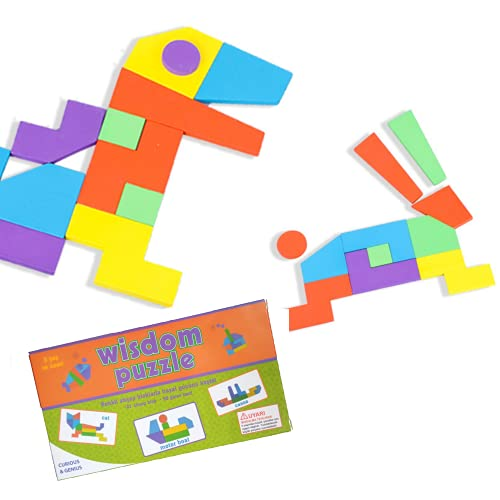 Puzzles Infantiles Motessori | Tangram de Madera | Puzzle Infantil Juguete Educativo de Mesa | Regalo Original Niños 3 a 10 años | Montessori Rompecabezas Infantil Educativo