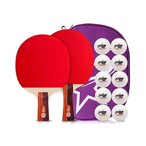 For Sale! CHUNSHENN Professional Table Tennis Racket, Double Shot 2 Packs, Student Beginners Childre...