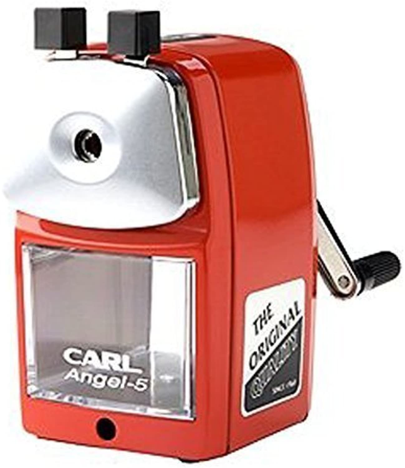 Carl Angel-5 Pencil Sharpener, rot, Quiet for Office, Home and School by Carl B018ORAFK0 | Sale