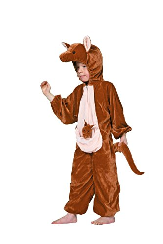 Wilbers Kinder Kostüm Känguruh Tierkostüm Karneval Fasching Gr.128