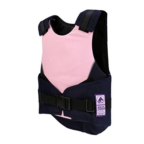 MagiDeal Kinder Schutz Sicherheitsweste Schutzweste Reiterweste - Flexibel und Komfort Reiterweste(ideal für Mädchen und Junge) - Rosa cm
