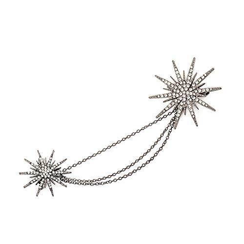 De Las Mujeres Cadena Cristal Estrella De Cristal Broche FlowerPeacock Decoración Pecho Solapa De Joyería para La Boda del Regalo del Día De La Madre