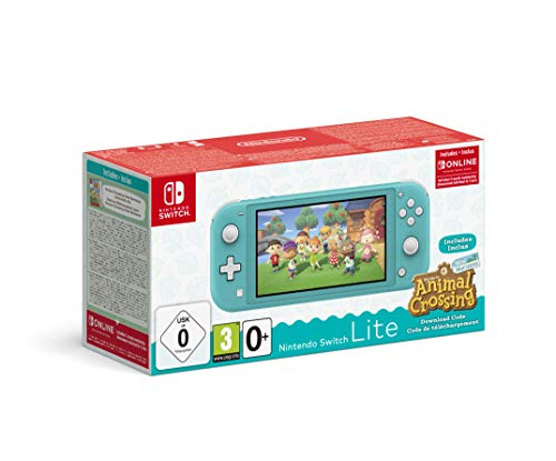 Nintendo Switch Lite Turchese + Animal Crossing New Horizons + NSO 3 mesi