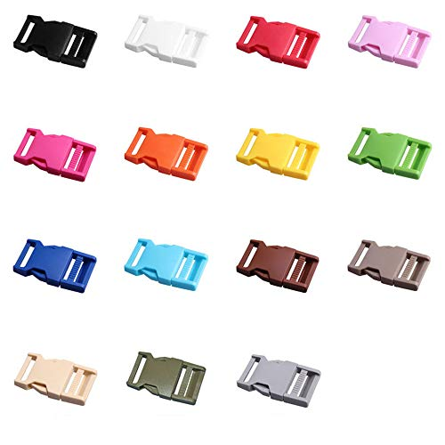 Limeo Acetal Buckle Plastic Buckles Buckles Plastic Side Release Buckles Buckle Closure Buckle For Backpack Side Release Buckles (total 15)