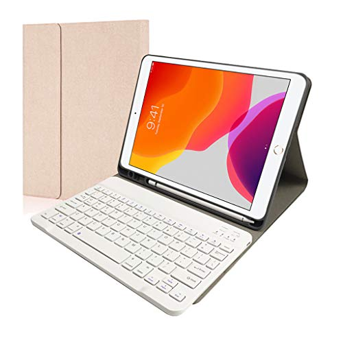 Great Deal! Seaintheson RK812A for iPad 7th Gen 10.2 Inch 2019 Backlit Keyboard Leather Stand Case S...
