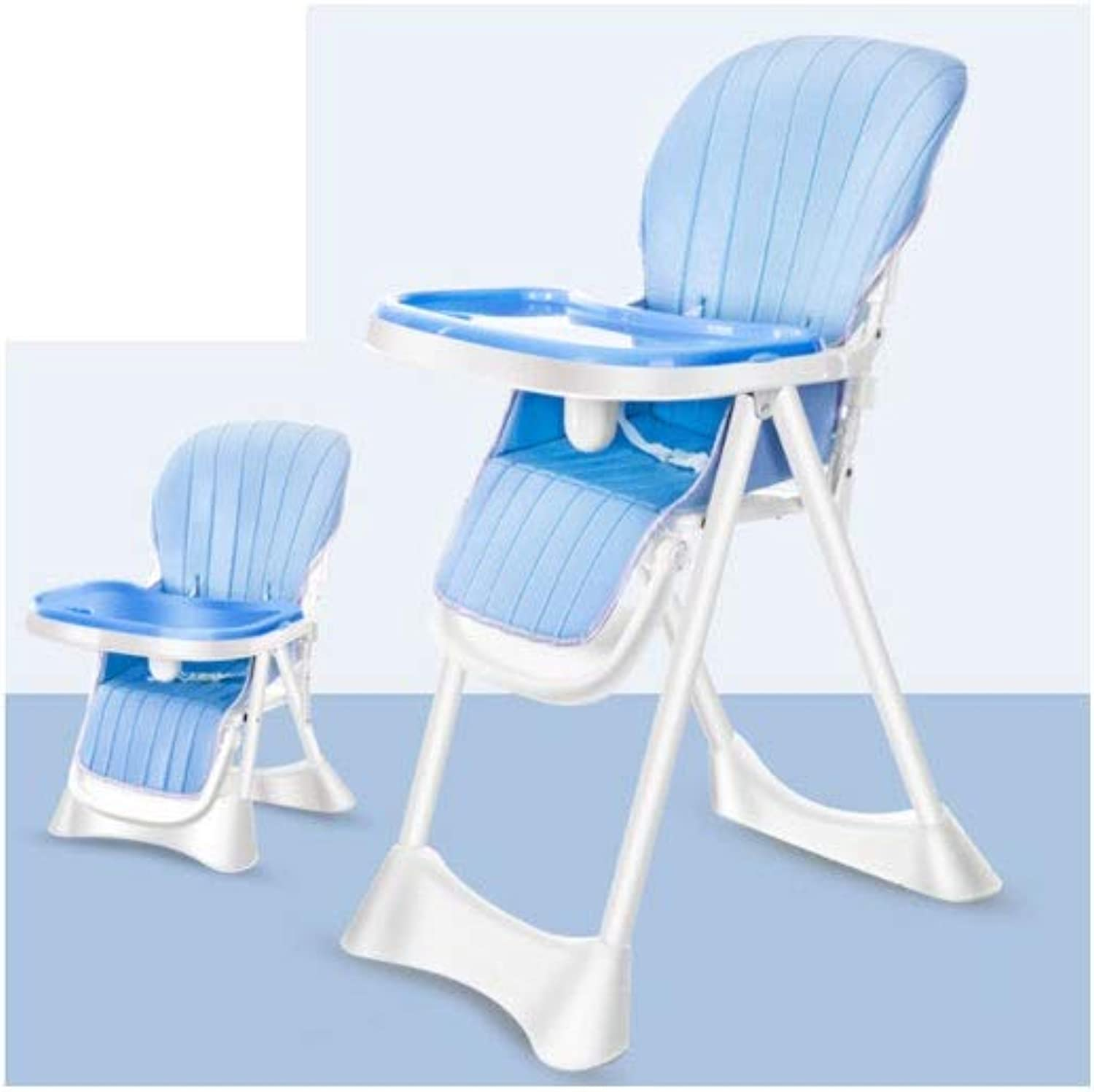 Baby Dining Chair Sleek Minimalist Creative Comfort Breathable Stable Portable Folding Baby Chair (color   bluee, Size   70  43  96cm)