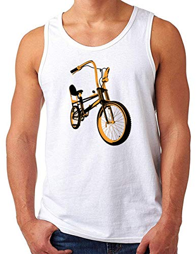 OM3® Bonanza Fahrrad Tank Top Shirt   Herren   Retro Vintage Rad Bonanzarad II   Weiß, 4XL