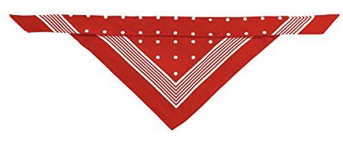 HUNTER Nicky-Tuch mit Schlaufe, Baumwolle, rot