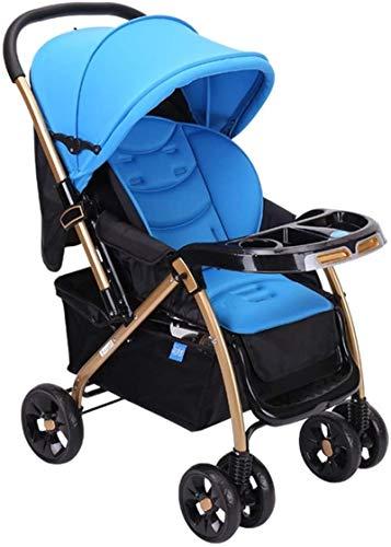 Yuansr Carruaje De Bebé Plegable Carruaje Para Bebé Para Recién Nacido Y Niño, Cochecito Convertible Cochecito De Asiento De Carruaje único(Color:Azul)
