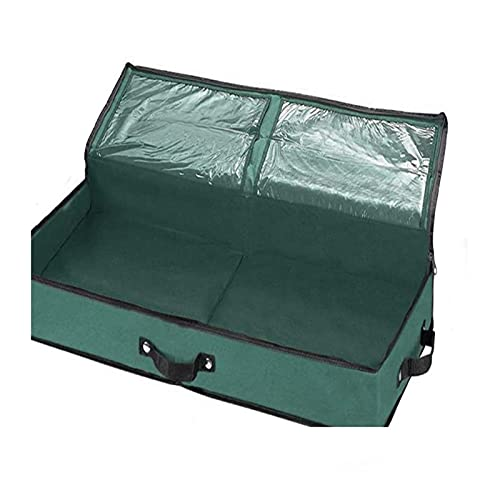 TBUDAR Christmas tree storage bag,Extra Large Christmas Xmas Tree Decorations Long Storage Zip Bags with Handles Set,– Ideal to use in the Loft Shed Garage (Color : B)
