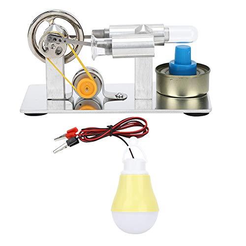 Garosa Stirlingmotor Modell, Edelstahl Wärme Dampfmaschine Physikalische Energieerzeugung Experimentelles Werkzeug Geschenk für Home School Kids Education