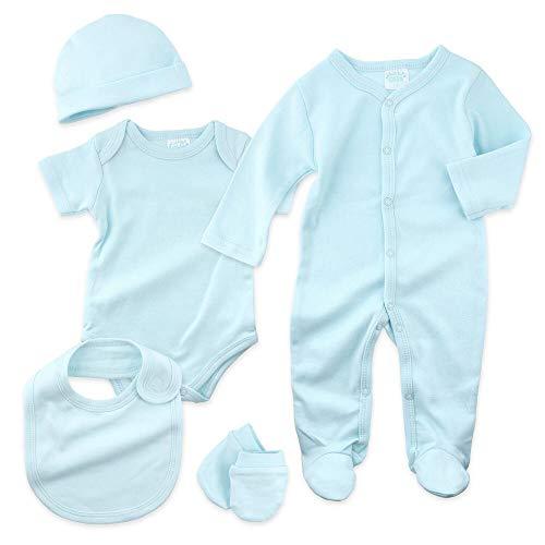 Just Too Cute Baby Set Jungen | Motiv: Blau | 5 Teile Erstausstattung für Neugeborene & Kleinkinder | Größe: 0-3 Monate (62)