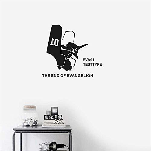 pegatina de pared frases Neon Genesis Evangelion Sticker Anime Cartoon Eva Car Decal Sticker Decor la decoración del hogar para sala de estar