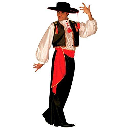 NET TOYS Espagnol Costume Flamenco Latin déguisement de Carnaval Costume de Flamenco Danseur Costume Espagnol Flamenco déguisement pour Homme L 50/52