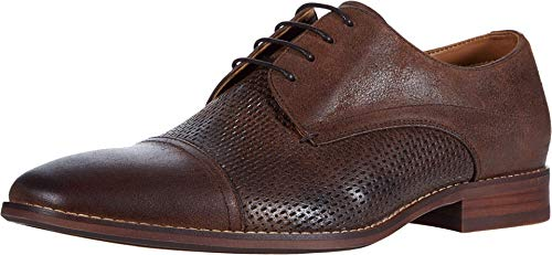 Steve Madden Desmond Oxford Brown Leather 10