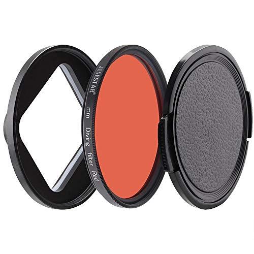 ZOPQOI Filtro de Lentes para Xiaomi Yi 4K / II/Lite / + Plus CLUS CPL UV Filtro Rojo Yi 4K Caja de la Carcasa Impermeable 52mm Accesorios de Buceo (Caliber : 52mm, Color : Red Cap Ring)