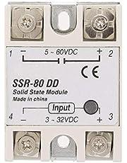 Relé de estado sólido, 80A Relé de estado sólido, DC-AC Relé de estado sólido industrial SSR-80DD 80A 3-32VDC a 5-60 VDC